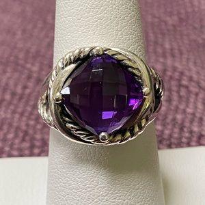 David Yurman Amethyst Infinity Ring 7.5